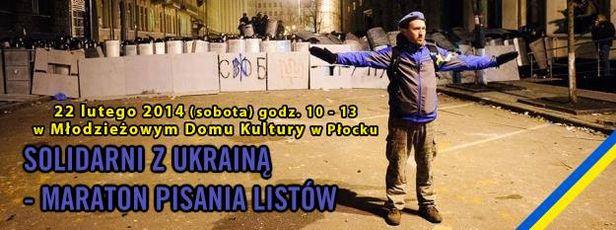 Pisz w sobotę list solidarności z Ukrainą - Zdjęcie główne