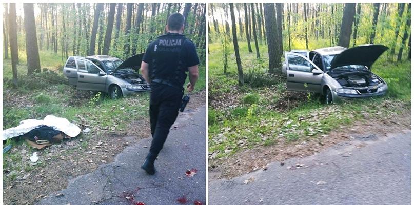 Policjanci ratowali życie rannym w wyniku wypadku [FOTO] - Zdjęcie główne