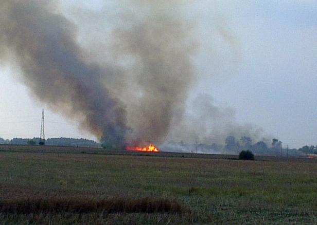 Pożar na kilku hektarach pól [FOTO] - Zdjęcie główne
