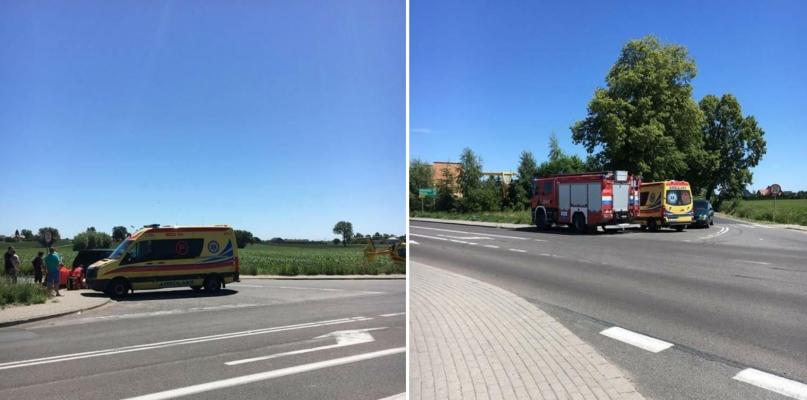 Straż pożarna i helikopter LPR pod Płockiem. Kierowca nie żyje  - Zdjęcie główne