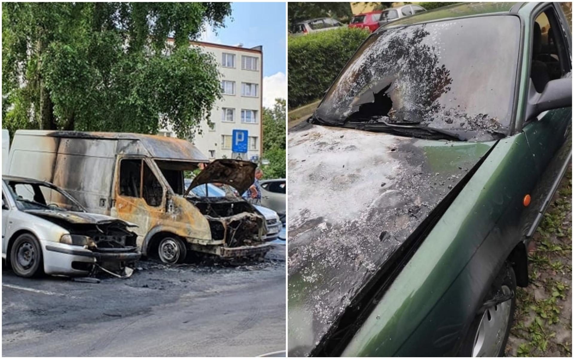 Czy na osiedlu Łukasiewicza ktoś podpala samochody?  - Zdjęcie główne