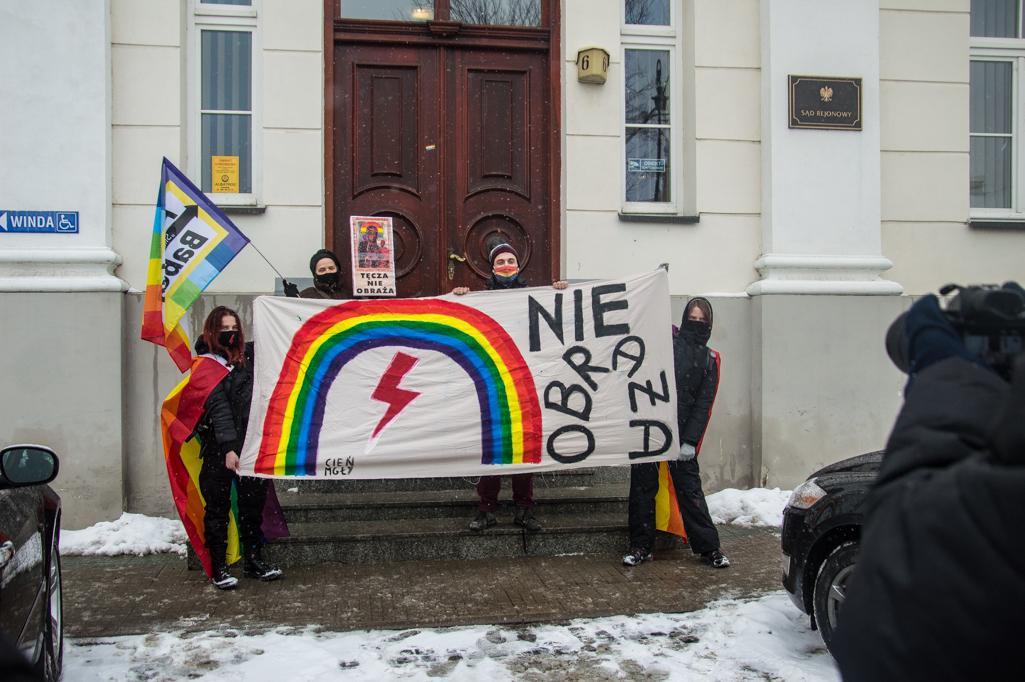 Tęczowi aktywiści przed sądem  - Zdjęcie główne