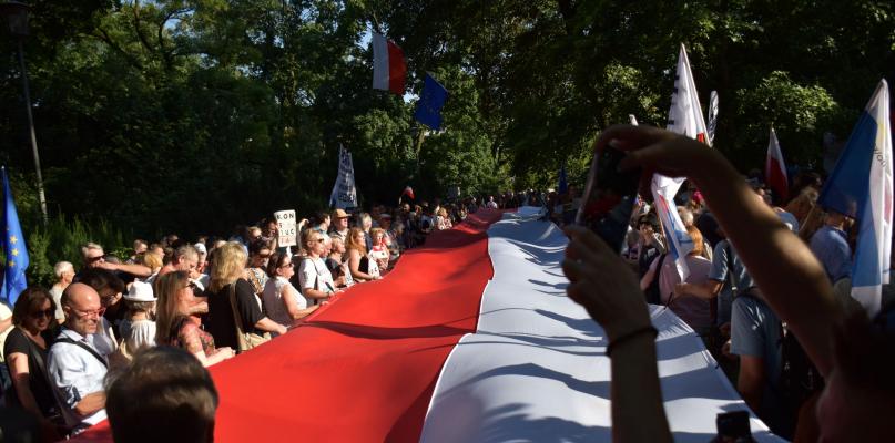 Płocczanie w obronie sądów w Warszawie [ZDJĘCIA] - Zdjęcie główne