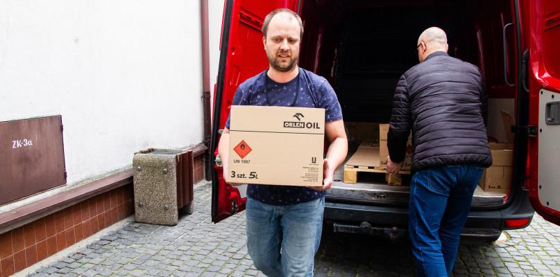 500 litrów płynu do dezynfekcji trafiło do płockiego ratusza  - Zdjęcie główne