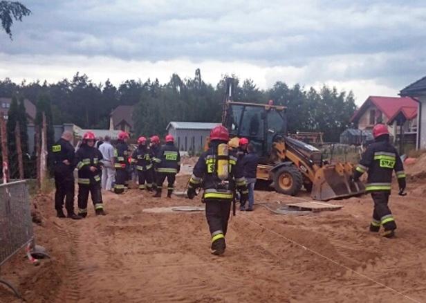 Koparka przerwała gazociąg [FOTO] - Zdjęcie główne