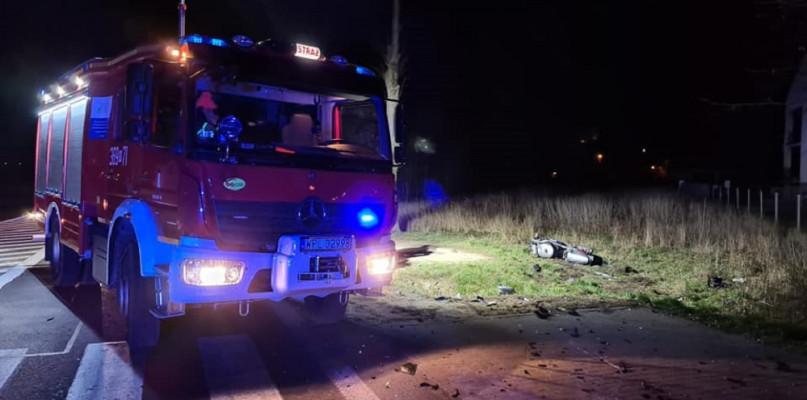 Wypadek w Drobinie. Motocyklista w ciężkim stanie  - Zdjęcie główne