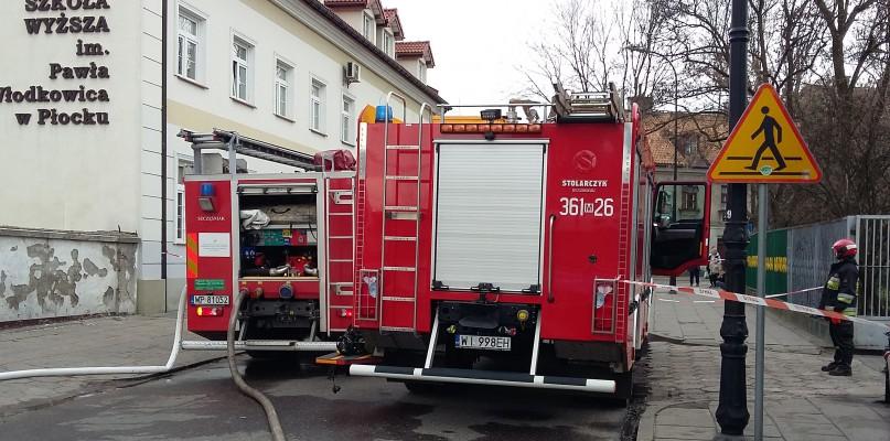 Pożar w centrum. Zapalił się dach [FOTO] - Zdjęcie główne