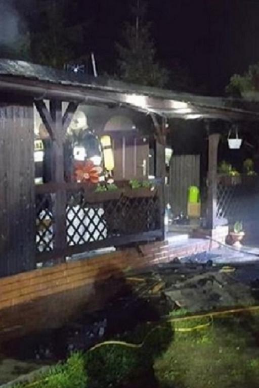 Pożar budynku mieszkalnego pod Płockiem - Zdjęcie główne