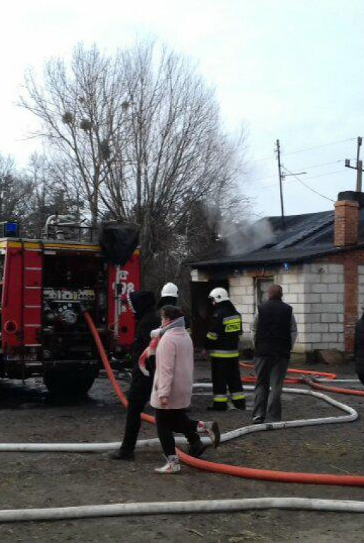 Pożar domu w Umieninie - Zdjęcie główne