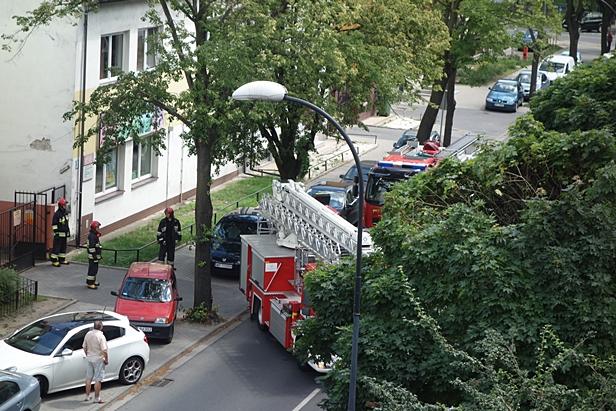 Dwa wozy strażackie przy Chotomku[FOTO] - Zdjęcie główne