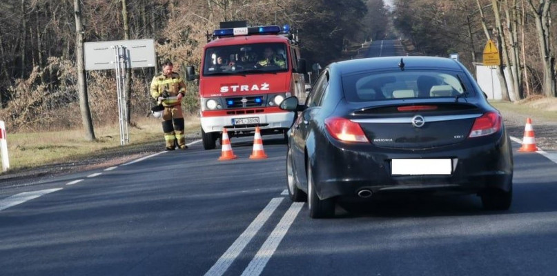 Wypadek na trasie Płock - Warszawa, przejazd zablokowany - Zdjęcie główne