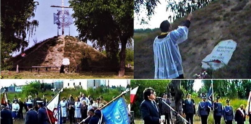 Obchody Obrony Płocka kilkanaście lat temu, kiedy poświęcono krzyż - Zdjęcie główne