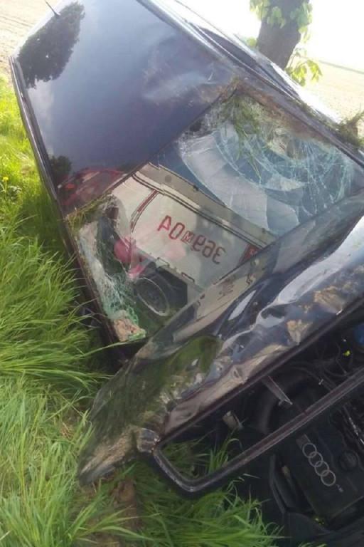 Kierowca miał dużo szczęścia - Zdjęcie główne
