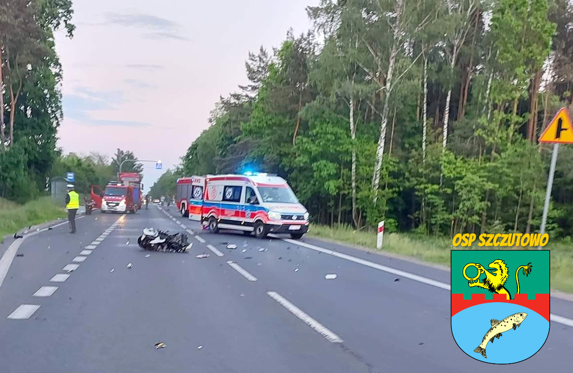 Tragedia na krajowej 10. Zderzenie motocyklistów - Zdjęcie główne