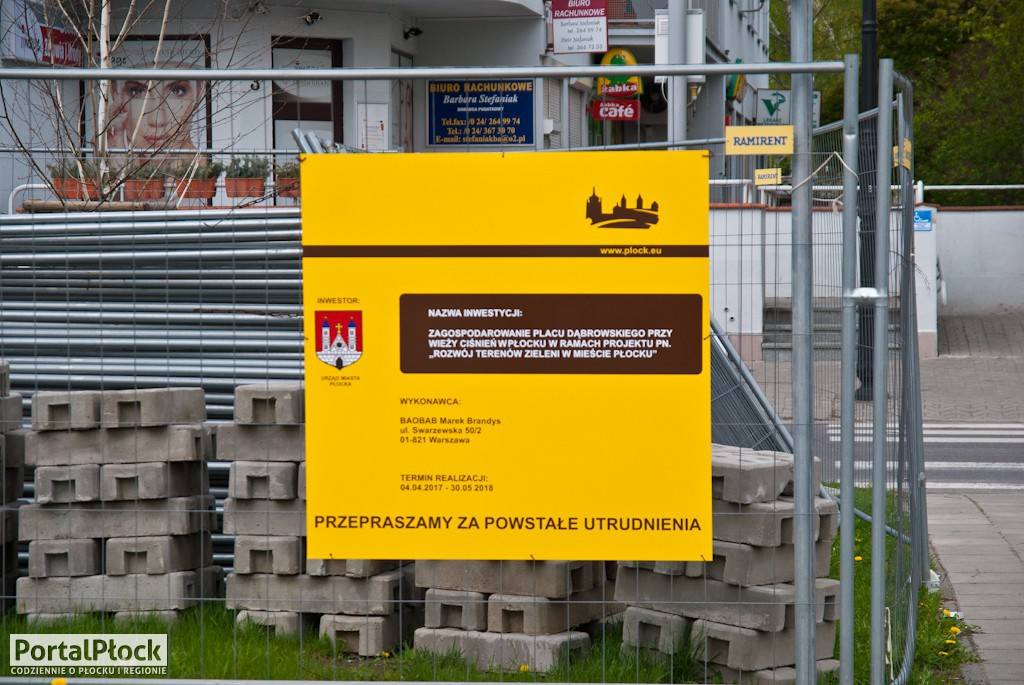 Początek remontu Placu Dąbrowskiego - Zdjęcie główne