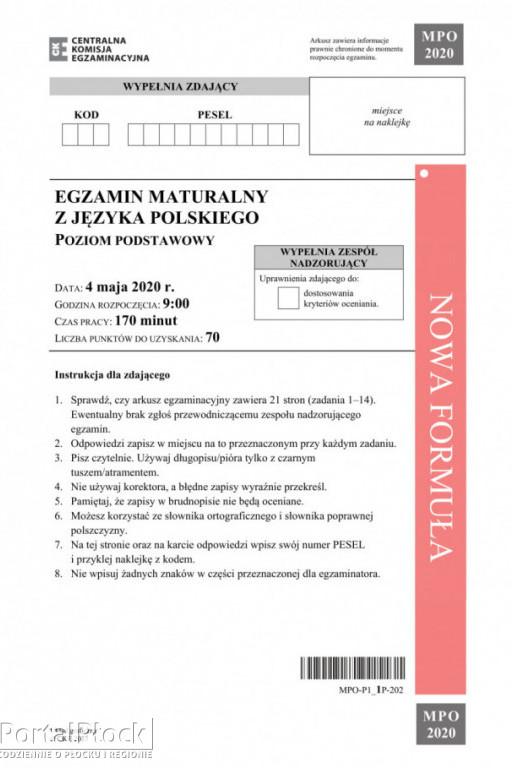 Matura z języka polskiego: poziom podstawowy - Zdjęcie główne