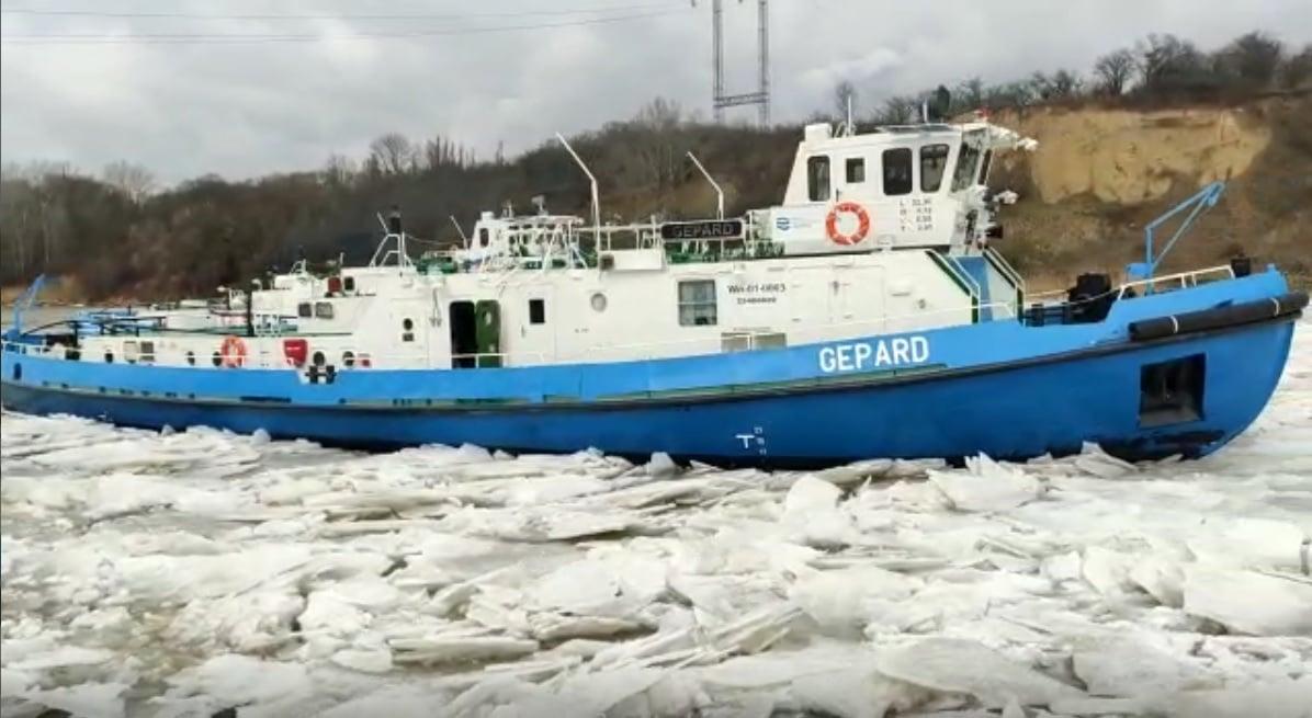 Lodołamacze dotarły za Dobrzyń. Do Płocka wciąż daleko - Zdjęcie główne