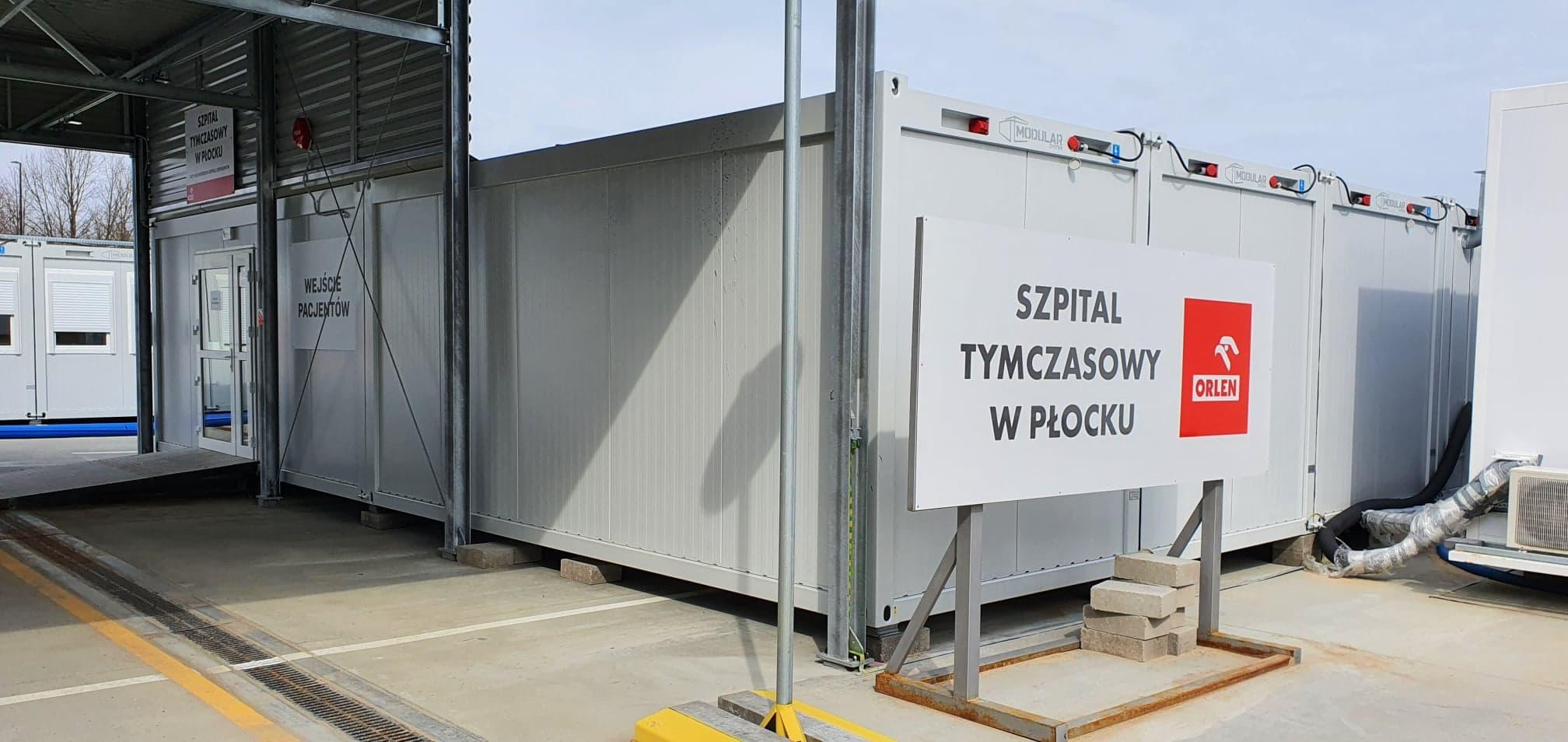 """Szpital tymczasowy w Płocku na razie zostaje. - Dużo pacjentów """"pocovidowych"""" wymaga intensywnej terapii  - Zdjęcie główne"""
