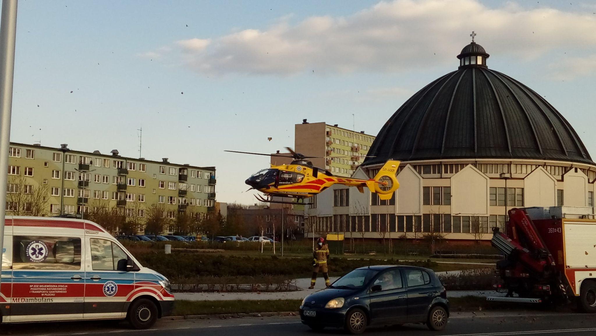 Interwencja Lotniczego Pogotowia Ratunkowego na osiedlu Łukasiewicza [ZDJĘCIA] - Zdjęcie główne