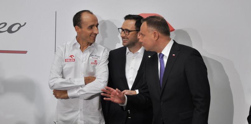 Andrzej Duda na prezentacji Alfa Romeo Racing Orlen [FOTO] - Zdjęcie główne
