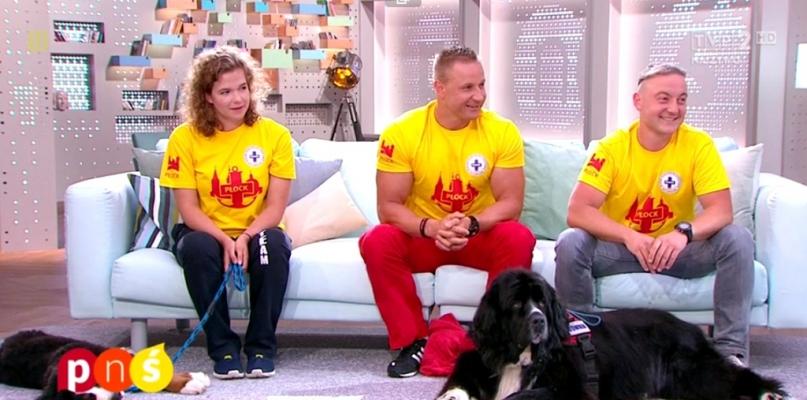 Płoccy ratownicy z psami w programie TVP na żywo [FOTO] - Zdjęcie główne