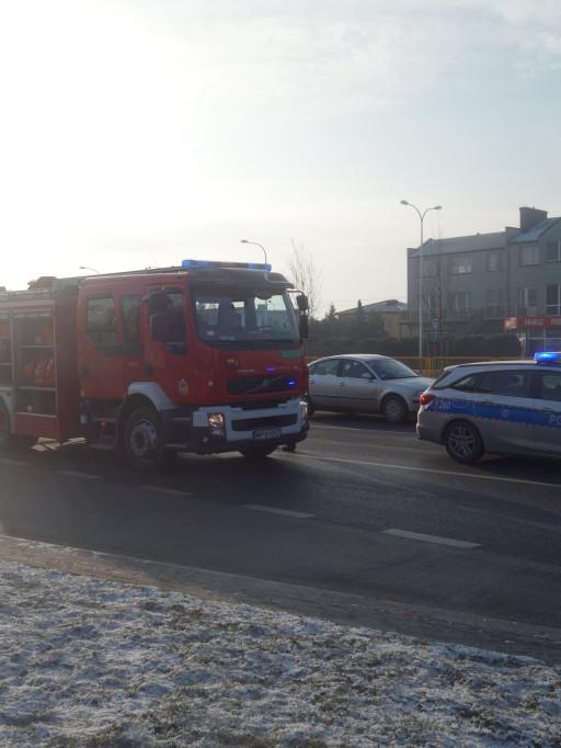Kolizja przy ul. Gierzyńskiego - Zdjęcie główne