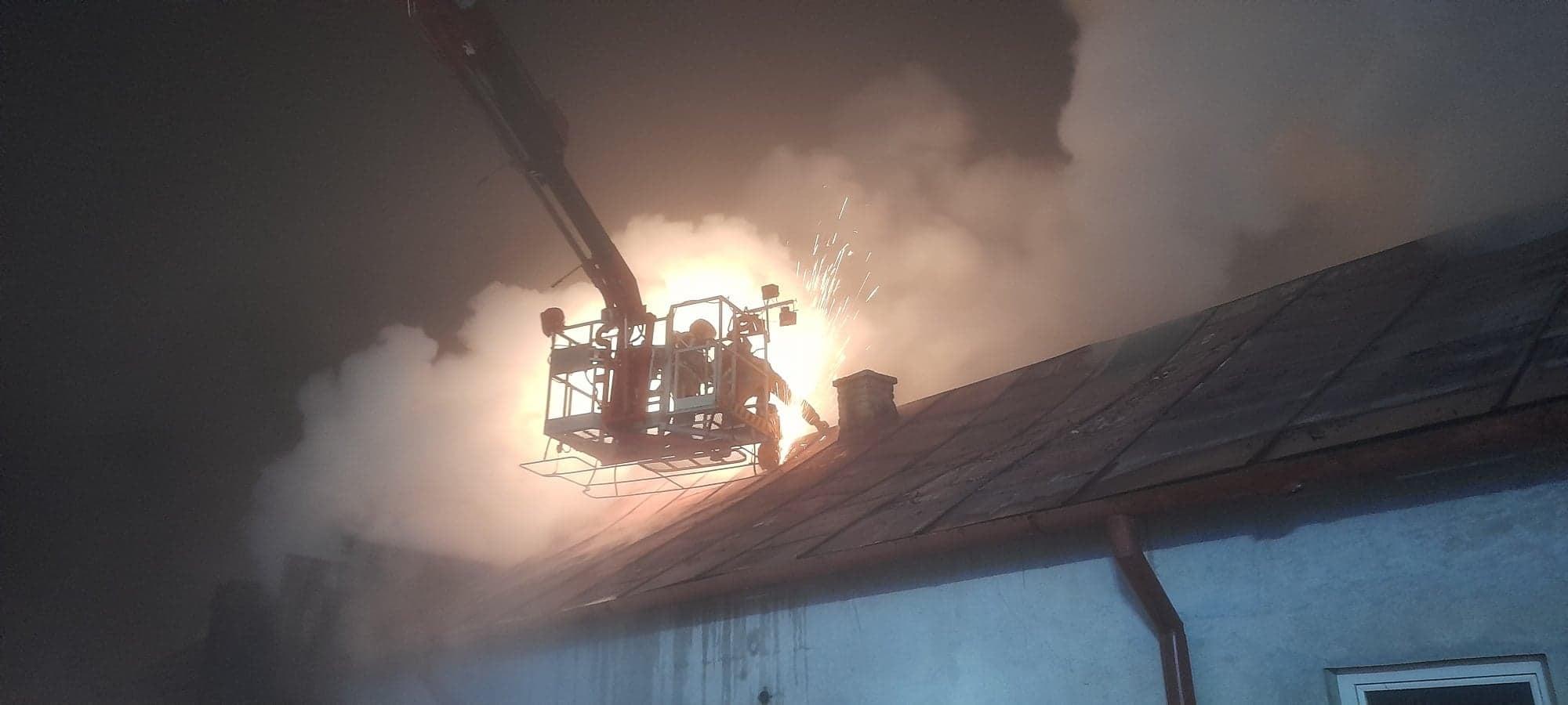 Pożar pod Płockiem. Strażacy gasili ogień przez dziewięć godzin [ZDJĘCIA] - Zdjęcie główne
