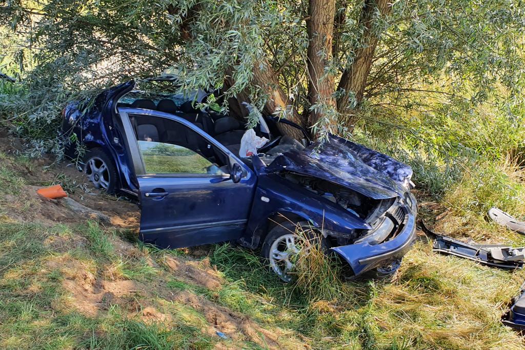 Groźny wypadek na Dobrzykowskiej - Zdjęcie główne
