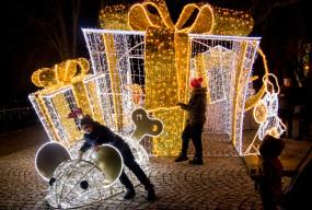 Płockie Ogrody Światła już błyszczą na Wzgórzu Tumskim. Zaprzęg czeka [FOTO] - Zdjęcie główne