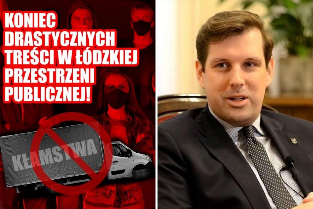 """Koniec z furgonetkami """"pro-life"""" i antyLGBT w Łodzi? Wojewoda łódzki mówi """"STOP""""! - Zdjęcie główne"""