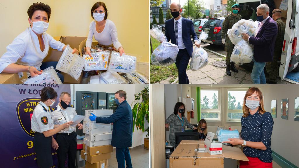 Ponad milion maseczek od Urzędu Marszałkowskiego w Łodzi. Zostały zamówione u lokalnych przedsiębiorców - Zdjęcie główne