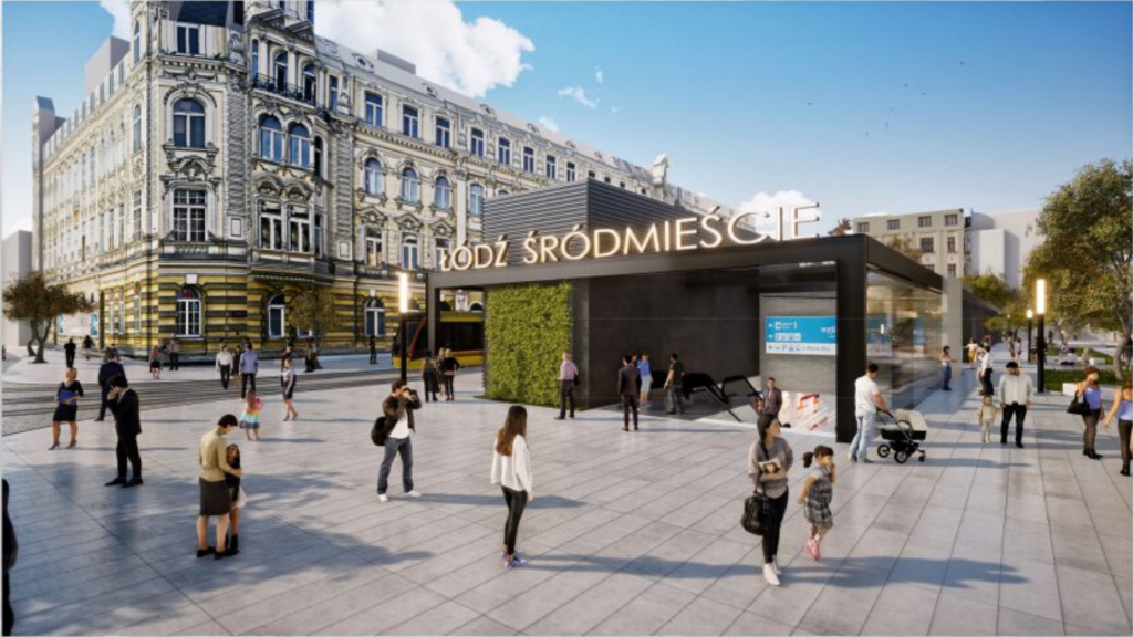 Są projekty przystanków łódzkiego metra. Będzie też trzeci przystanek Łódź Koziny. Zobacz! [WIZUALIZACJE] - Zdjęcie główne