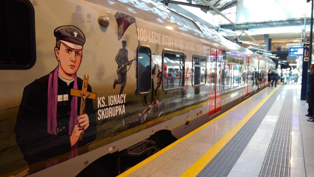 Takiego pociągu w barwach ŁKA jeszcze nie było! [ZDJĘCIA] - Zdjęcie główne
