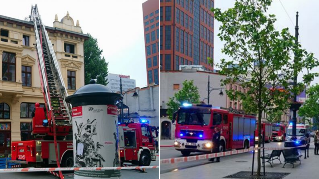 Pożar kamienicy przy ul. Piotrkowskiej. Na miejscu pracowało 32 strażaków i 8 zastępów straży pożarnej [ZDJĘCIA] - Zdjęcie główne