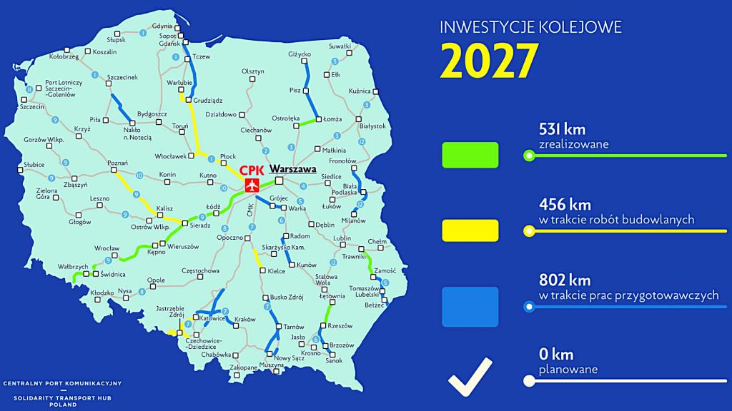 Poznaliśmy przebieg szybkiej kolei przez Łódź i województwo. Będzie też nowa linia tramwajowa [MAPY | WIDEO] - Zdjęcie główne