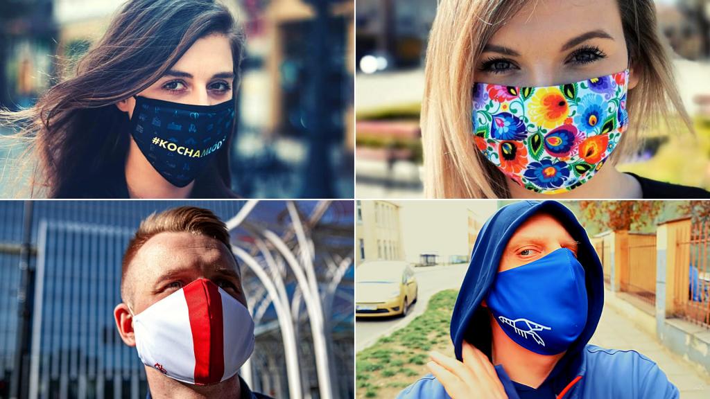 Maseczki. Bezpieczeństwo czy moda? Są symbolem przywiązania do miasta, regionu, klubu lub sposobem na ewangelizację [WIDEO | ZDJĘCIA]   - Zdjęcie główne
