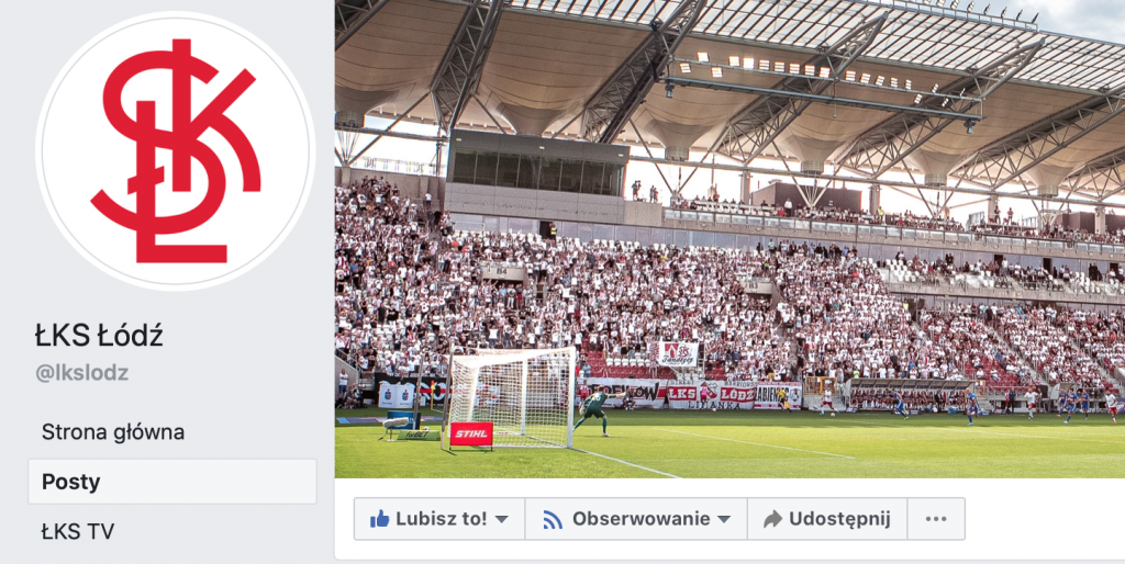 Facebookowa społeczność ŁKS-u rośnie w siłę! - Zdjęcie główne