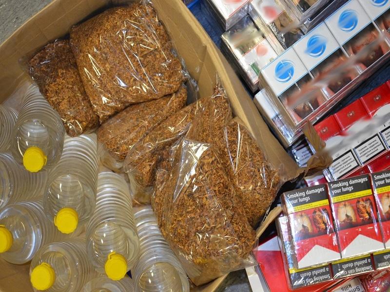 Kolejna kontrabanda na terenie Bałuckiego Rynku wykryta  - Zdjęcie główne