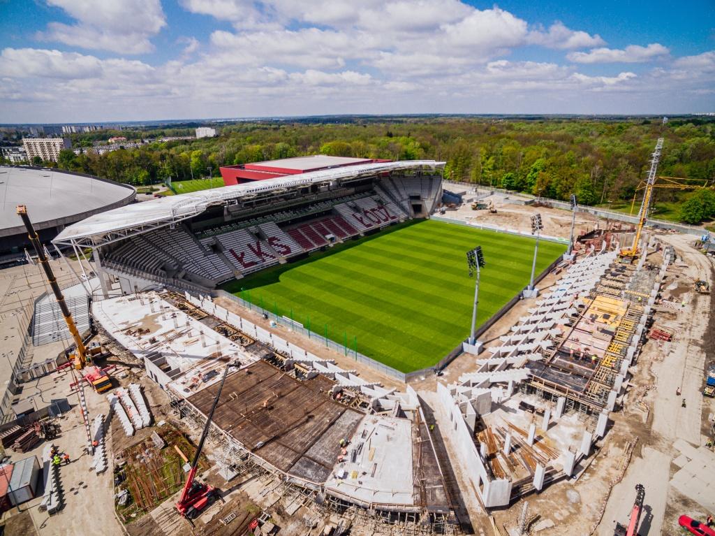 Jak przebiega rozbudowa stadionu ŁKS-u? Zgodnie z planem! [WIDEO | ZDJĘCIA] - Zdjęcie główne