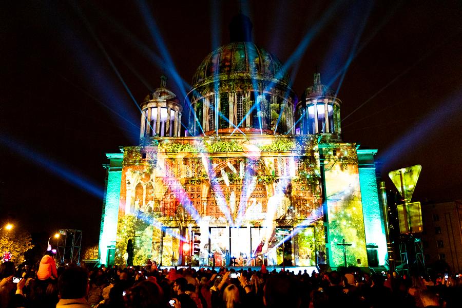 Light Move Festival 2021 w Łodzi. Tłumy podziwiały instalacje artystyczne [zdjęcia] - Zdjęcie główne