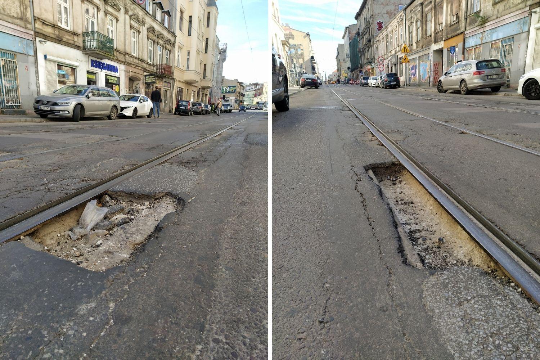 Dziurawe ulice w Łodzi sławne na cały świat. Mają swoją zakładkę Google Maps [zdjęcia] - Zdjęcie główne