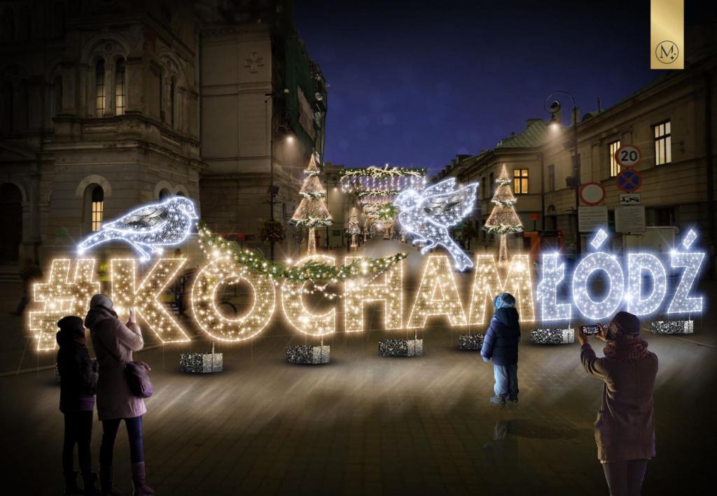 Świąteczna iluminacja ozdobi Piotrkowską. Zobacz, jak będzie wyglądać! [ZDJĘCIA] - Zdjęcie główne