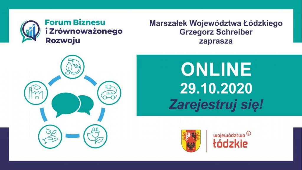 Gospodarka, ekologia, rolnictwo i przetwórstwo. Zapraszamy na Forum Biznesu i Zrównoważonego Rozwoju - Łódzkie 2020 - Zdjęcie główne