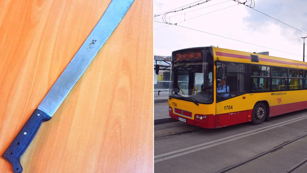 40-latek z maczetą w ręce groził kierowcy autobusu pozbawieniem życia. Co takiego się stało? - Zdjęcie główne