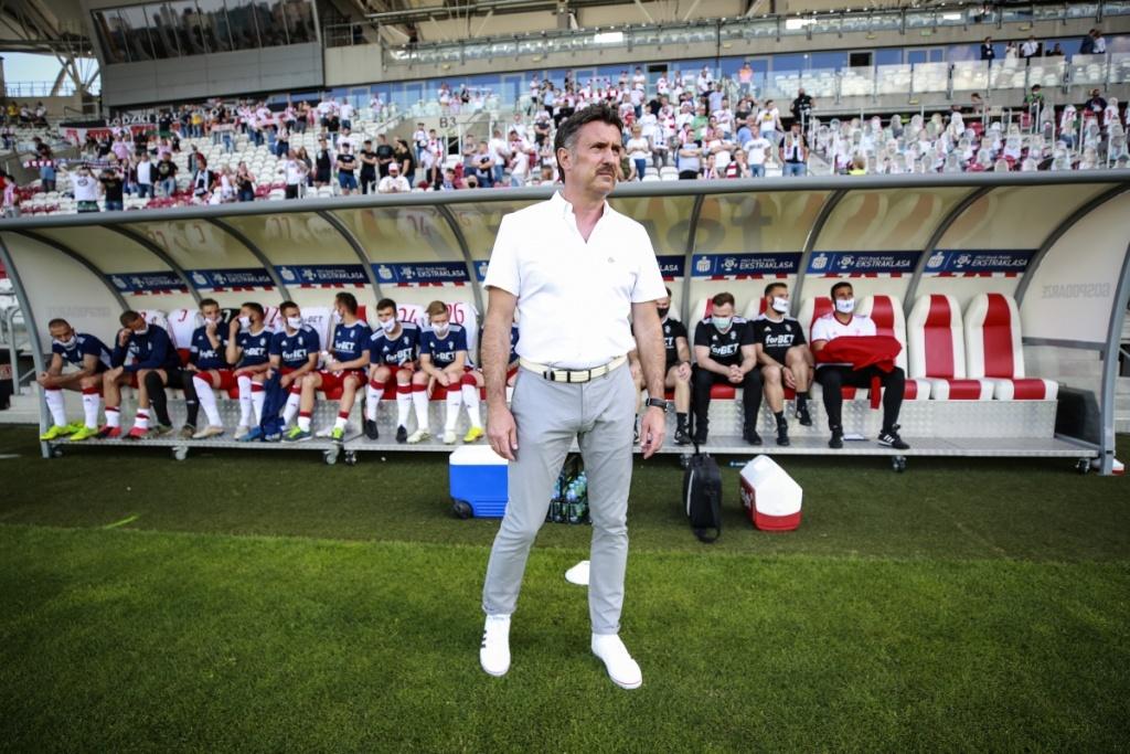 """Trener ŁKS-u po meczu: """"Gdybyśmy teraz grali w ekstraklasie to wyglądałoby to zupełnie inaczej niżrok temu"""" - Zdjęcie główne"""