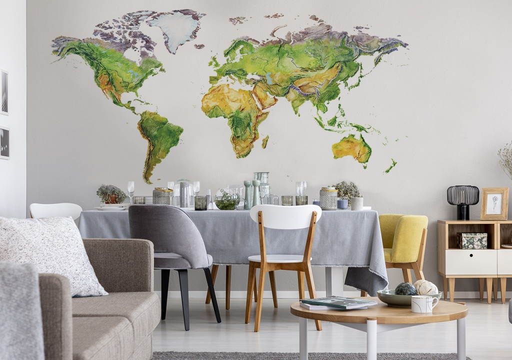 Inspiracje ze świata, czyli fototapety z oryginalnymi mapami - Zdjęcie główne