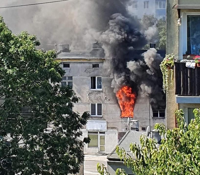 Groźny pożar w kamienicy na Łagiewnickiej! [zdjęcia   wideo] - Zdjęcie główne