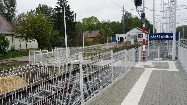 Nowe komfortowe perony na stacji Łódź Lublinek. Pierwszy z nich już dostępny dla podróżujących - Zdjęcie główne